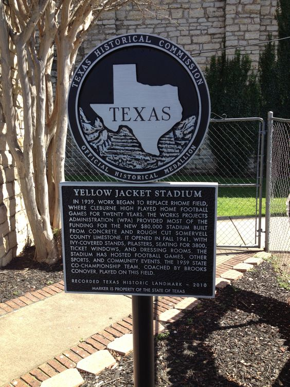 Yellow Jacket stadium marker