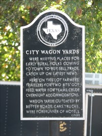 Cleburne wagon yards